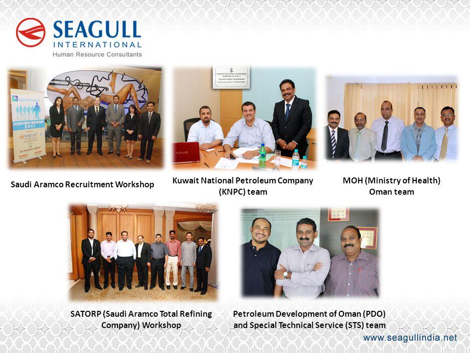 Saudi Aramco Recruitment Workshop Kuwait National Petroleum Company (KNPC) team MOH (Ministry of Health) Oman team SATORP (Saudi Aramco Total Refining