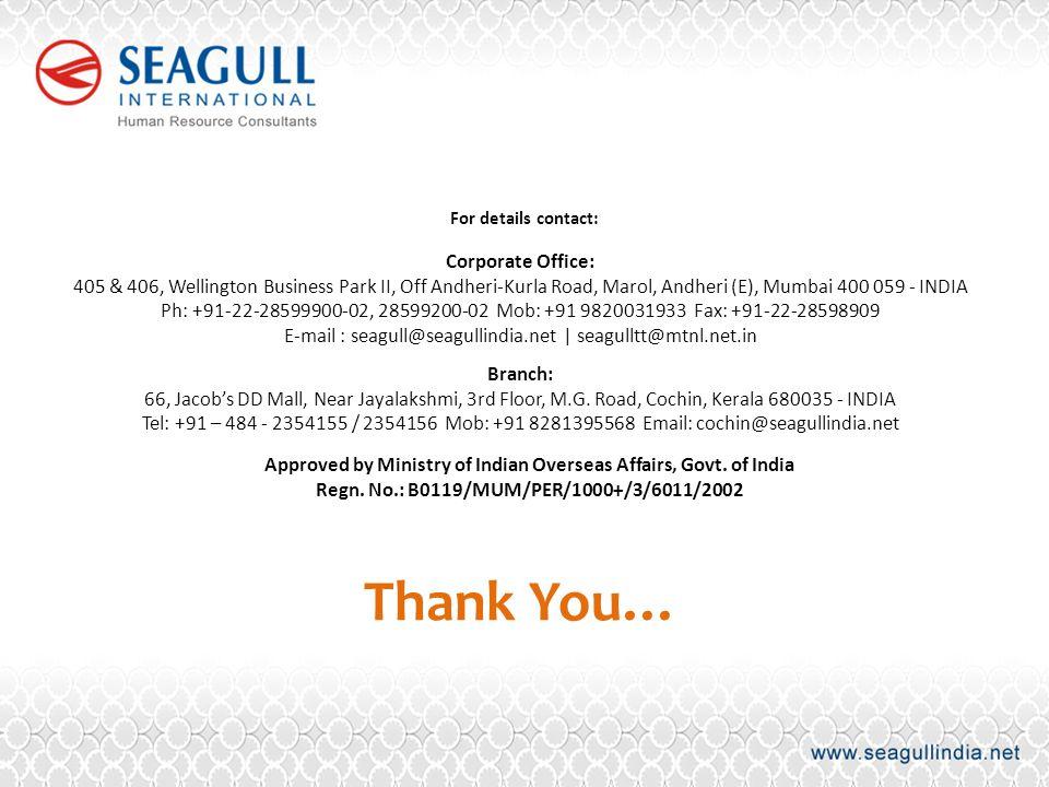 Corporate Office: 405 & 406, Wellington Business Park II, Off Andheri-Kurla Road, Marol, Andheri (E), Mumbai 400 059 - INDIA Ph: +91-22-28599900-02, 2