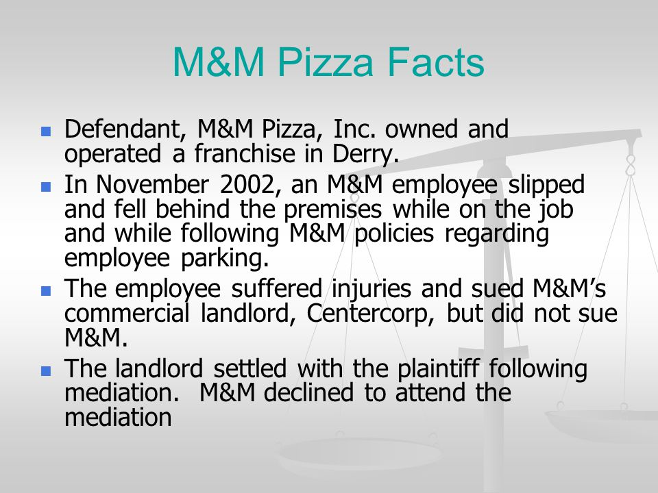 Growing Out Of OneBeacon Insurance/ Centercorp Retail Properties, Inc. v. M&M Pizza, Inc. (8/19/2010) Growing out of is equated to Arising out of
