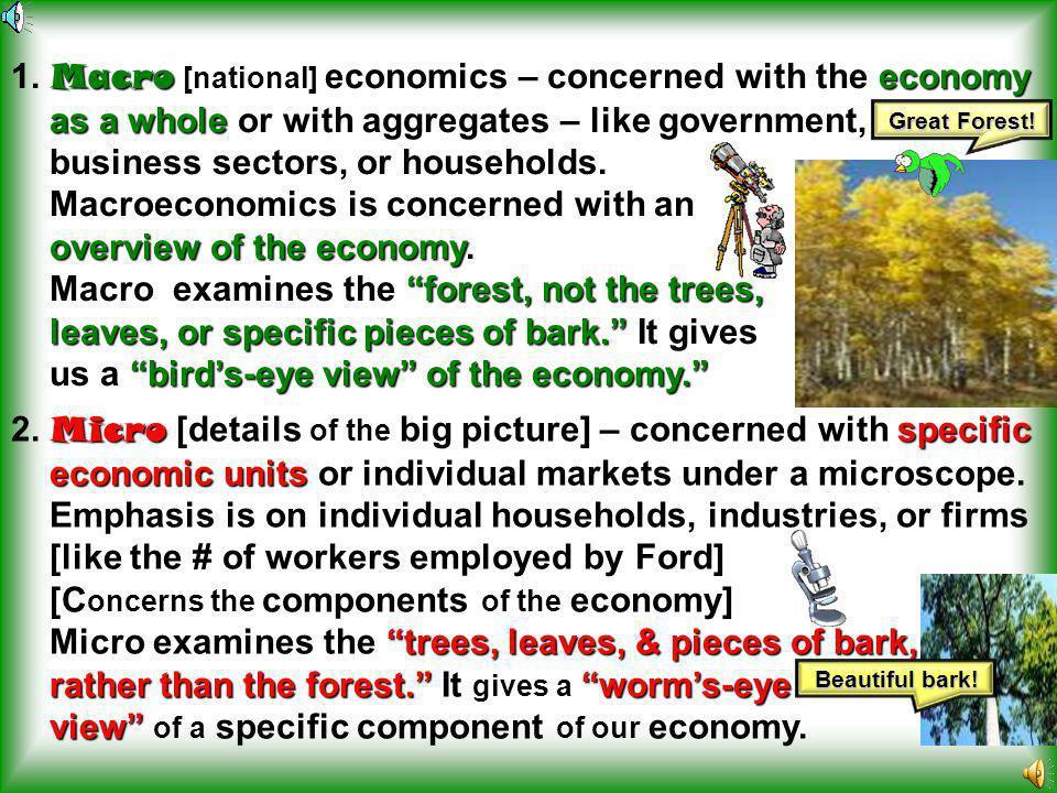 Macroeconomics telescope Macroeconomics – economics thru a telescope.