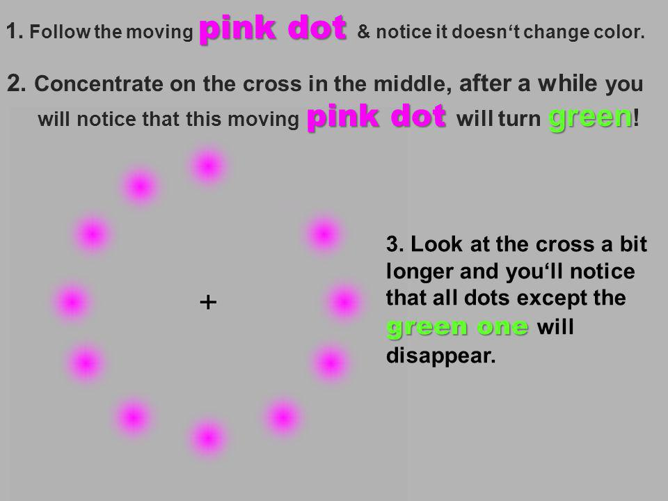 Focus on the Dot in the center & move your head backward and forwards.