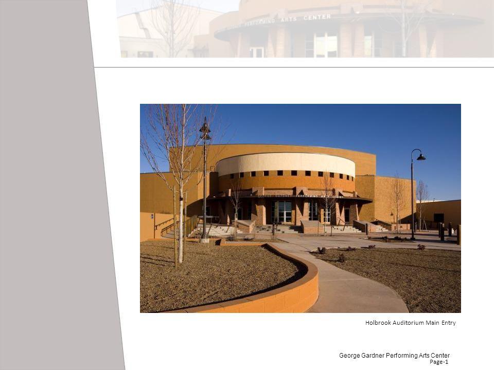 Page-1 Holbrook Auditorium Main Entry George Gardner Performing Arts Center