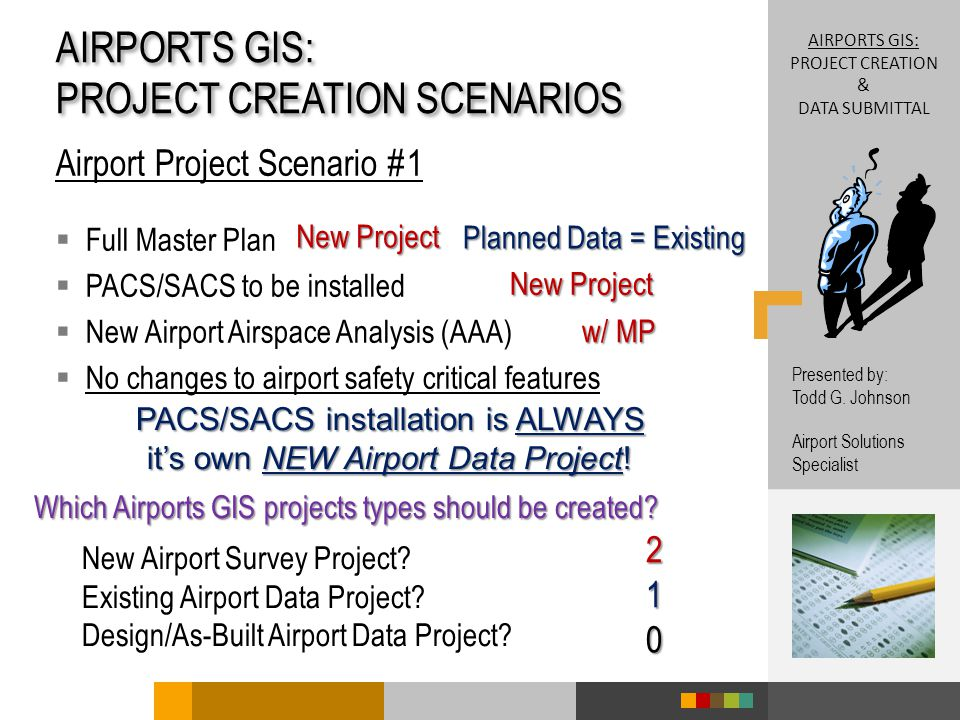 Which Airports GIS projects types should be created.