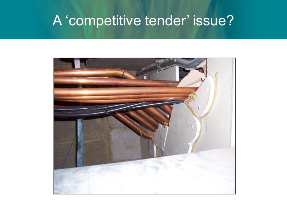 A competitive tender issue