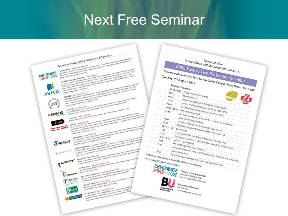 Next Free Seminar