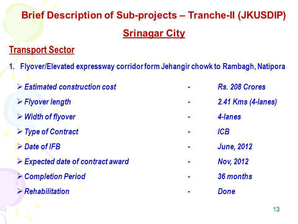 13 Transport Sector 1.