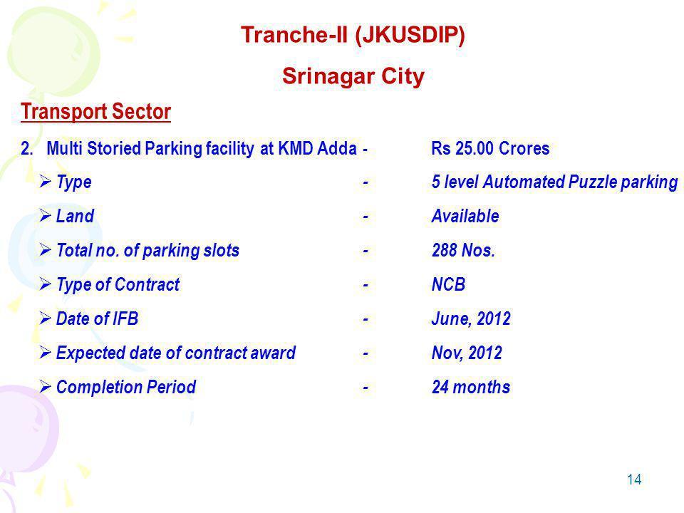 14 Transport Sector 2.