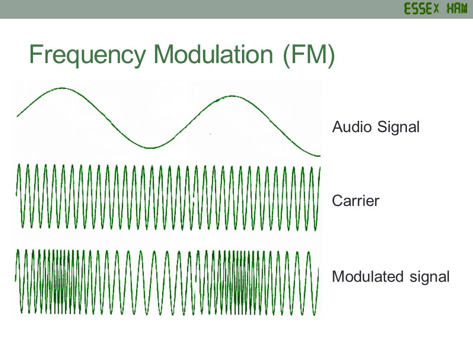 Frequency Modulation (FM) Audio Signal Carrier Modulated signal