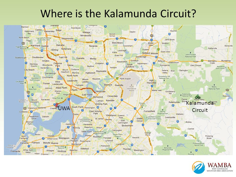 Where is the Kalamunda Circuit? Kalamunda Circuit UWA