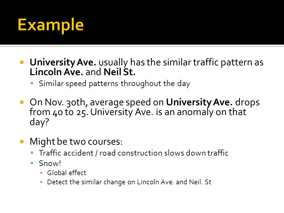 University Ave. usually has the similar traffic pattern as Lincoln Ave.