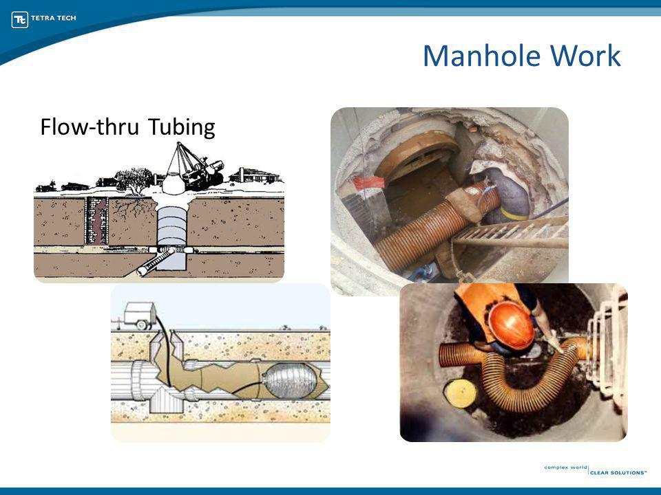 Flow-thru Tubing Manhole Work