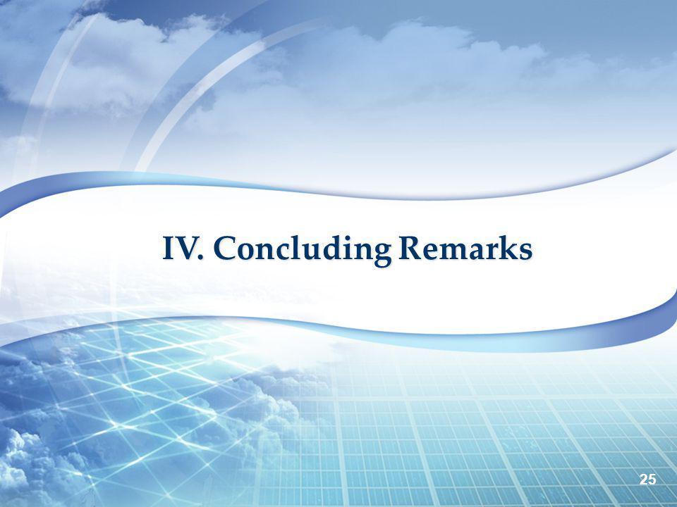 IV. Concluding Remarks 25