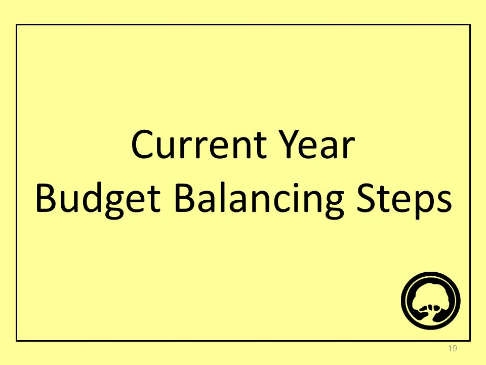 Current Year Budget Balancing Steps 19