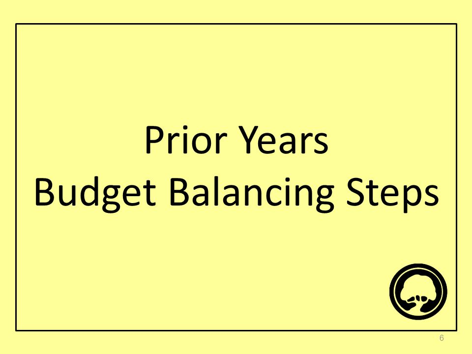Prior Years Budget Balancing Steps 6