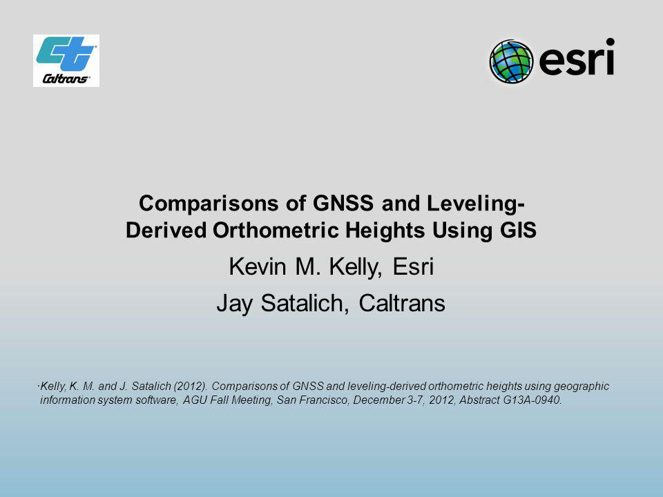 Conclusions Discrepancies of up to -8 cm persist between published NAVD88 heights and GPSBM for all NGS hybrid geoids from 1999 to 2012 Ellipsoidal heights exhibit repeatability at the 1 cm level over four epochs spanning 20 years Differential leveling over four epochs spanning 34 years reveals that benchmarks are stable at ±2 cm or better level The data support an apparent shortcoming in NGS geoid models in the Palos Verdes area