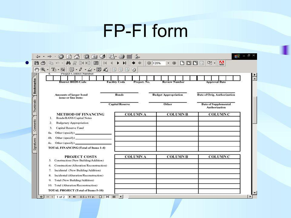 FP-FI form FP-FI forms and financial revision
