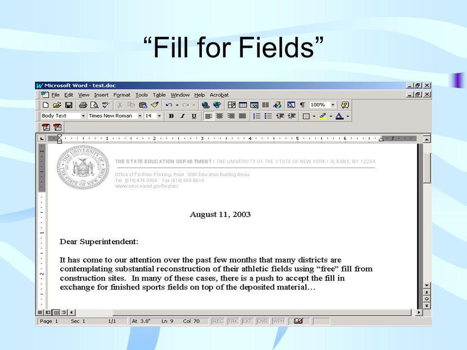 Fill for Fields