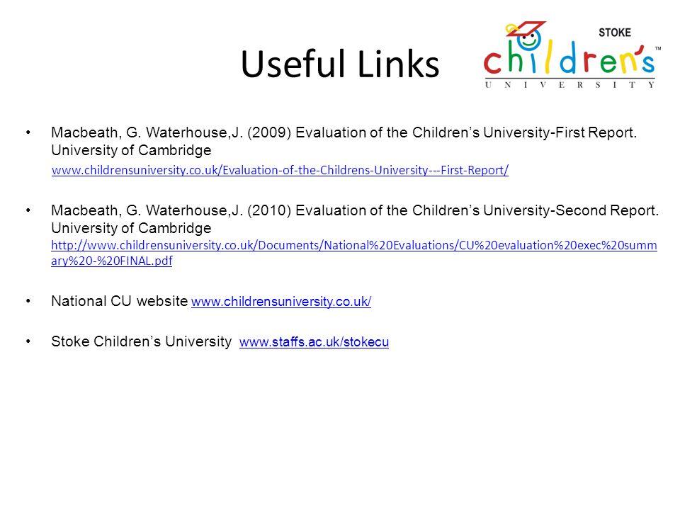 Useful Links Macbeath, G. Waterhouse,J.