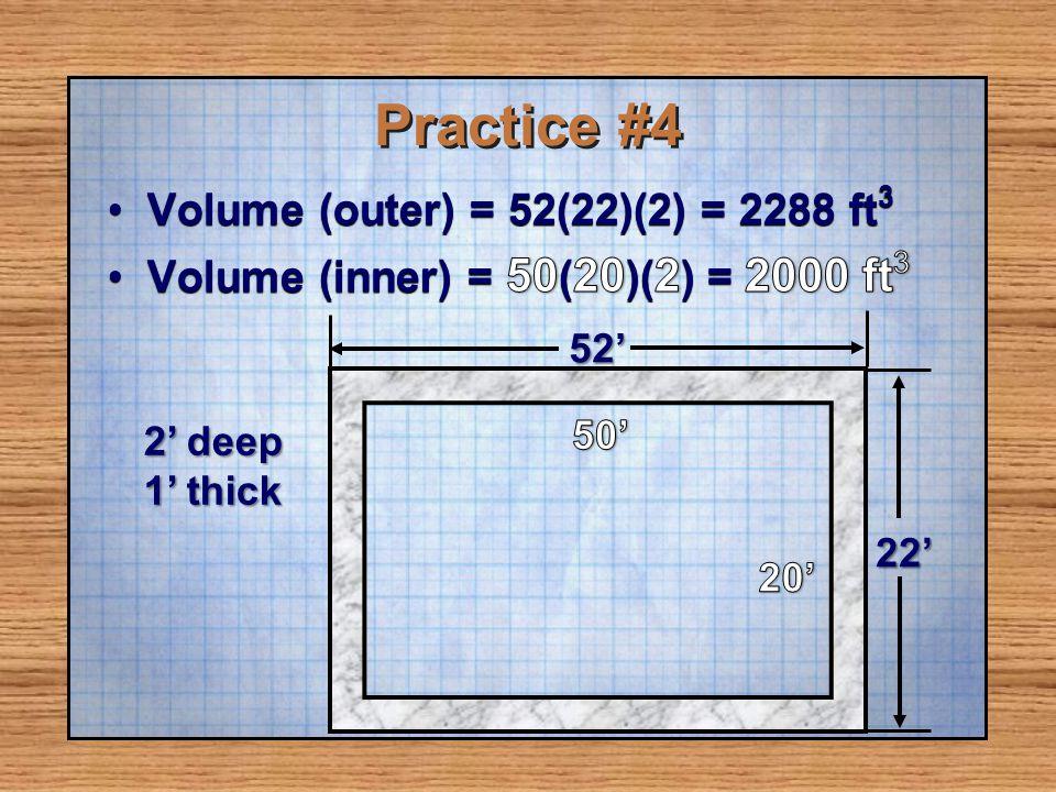 Practice #4 52 22 2 deep 1 thick
