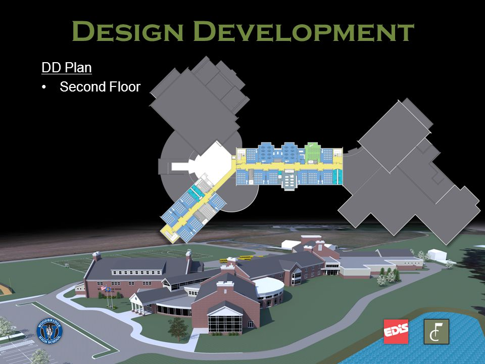 Woodbridge High School DD Plan Second FloorSecond Floor Design Development