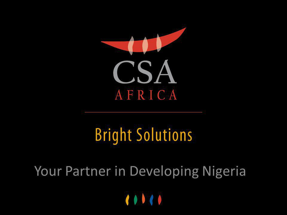 Your Partner in Developing Nigeria