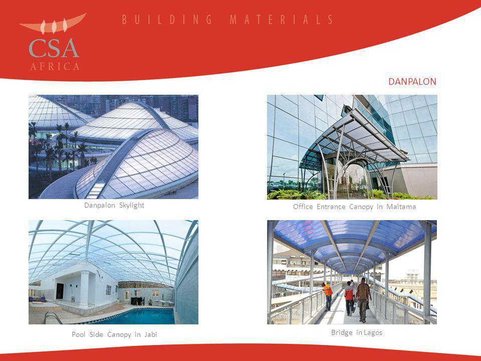 Danpalon Skylight Office Entrance Canopy in Maitama Pool Side Canopy in Jabi Bridge in Lagos DANPALON