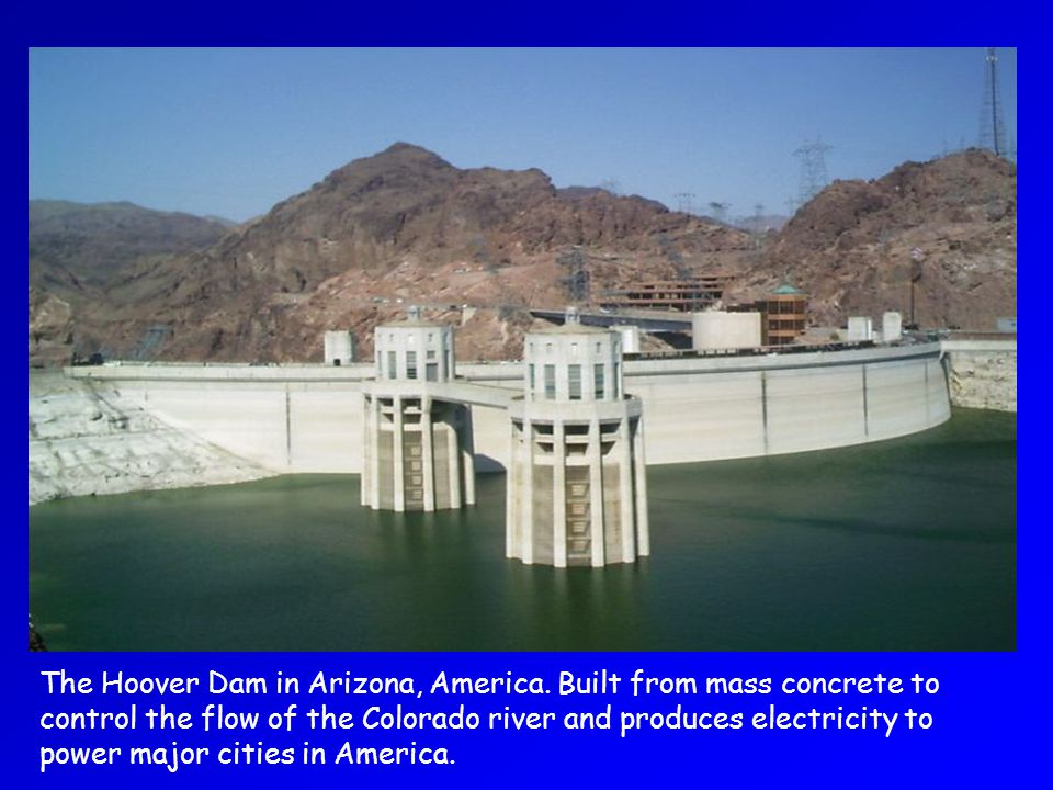 The Hoover Dam in Arizona, America.