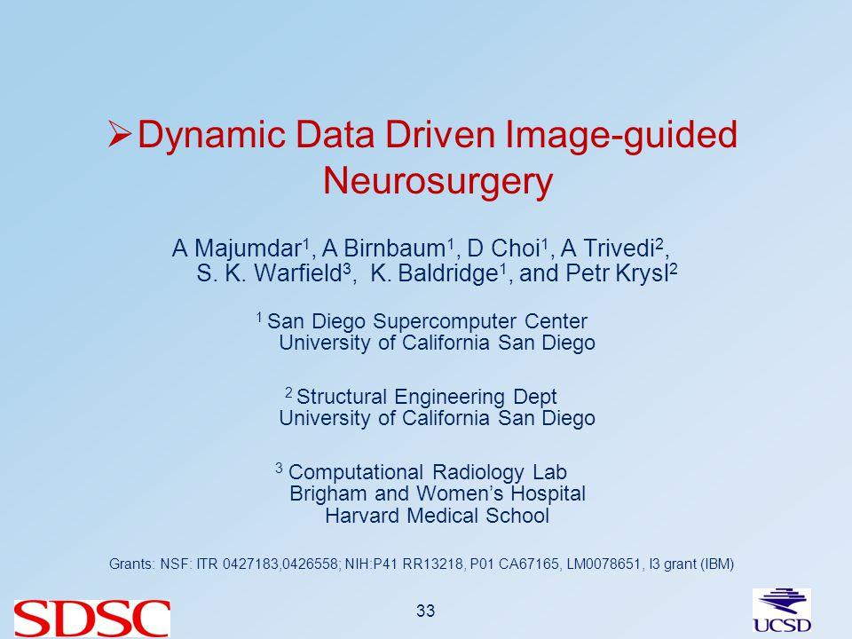 Dynamic Data Driven Image-guided Neurosurgery A Majumdar 1, A Birnbaum 1, D Choi 1, A Trivedi 2, S.