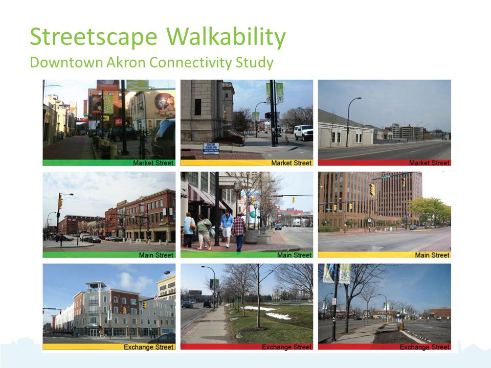 Streetscape Walkability Downtown Akron Connectivity Study