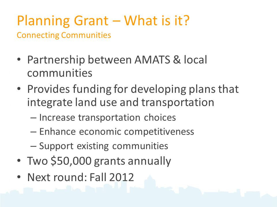 Planning Grant – What is it.