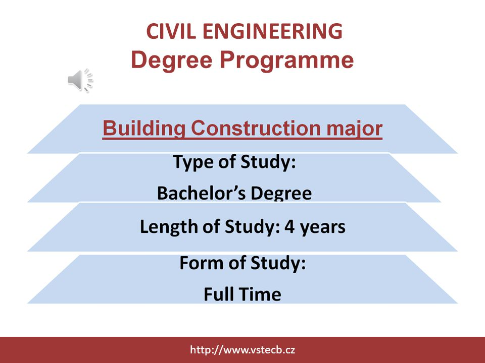 CIVIL ENGINEERING Degree Programme http://www.vstecb.cz
