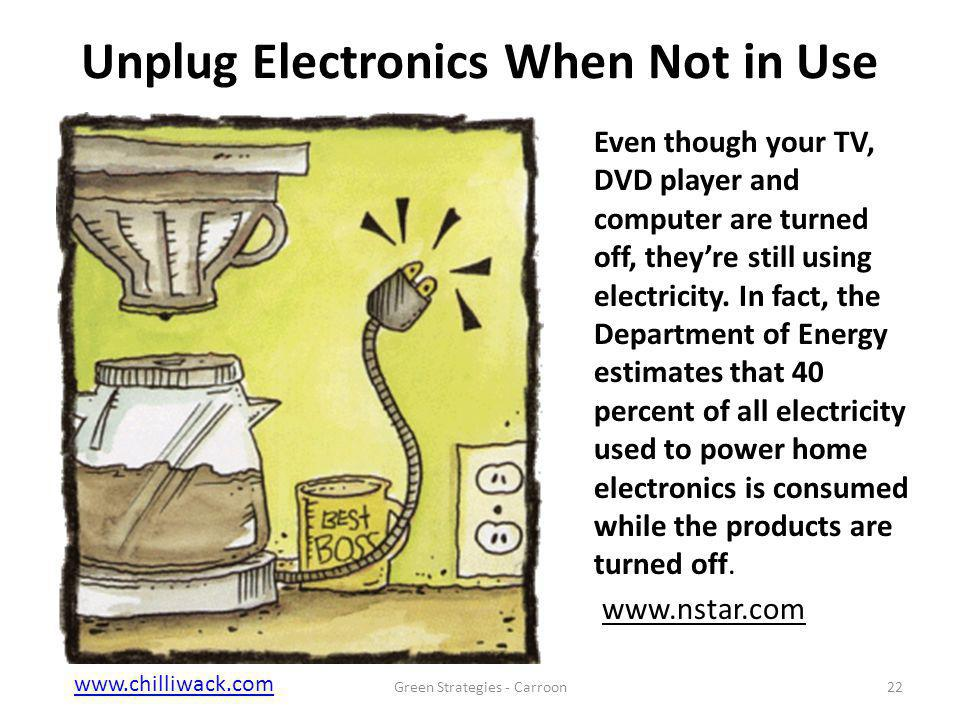 www.chilliwack.comwww.chilliwack.com City of Chilliwack, B.C. Unplug Electronics When Not in Use Even though your TV, DVD player and computer are turn