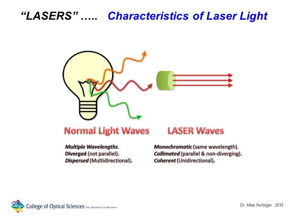 Dr. Mike Nofziger 2010 LASERSLASERS ….. Laser Speckle (random interference pattern)
