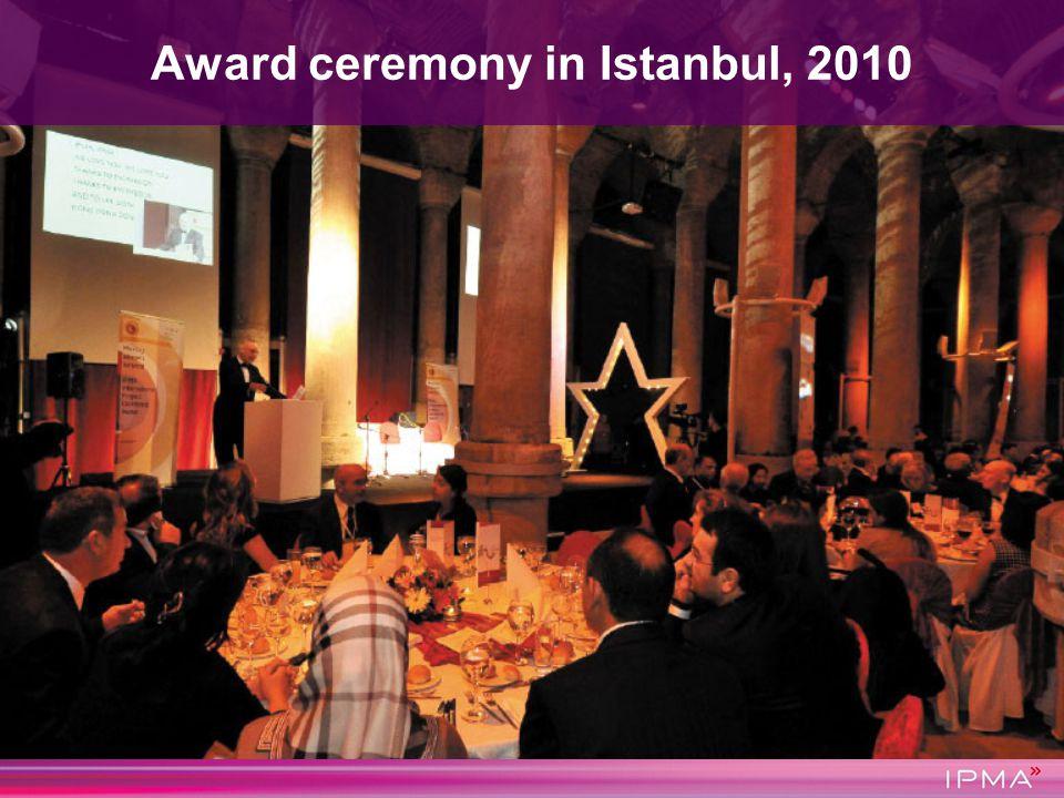 Award ceremony in Istanbul, 2010