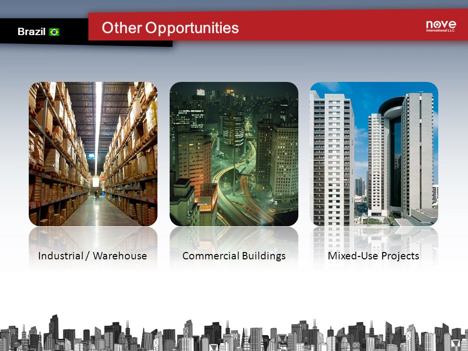 Other Opportunities Brazil Mixed-Use Projects Commercial BuildingsIndustrial / Warehouse