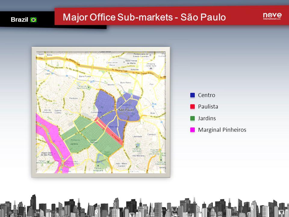 Major Office Sub-markets - São Paulo Brazil Centro Paulista Jardins Marginal Pinheiros