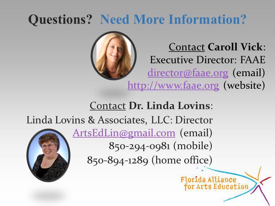 Contact Caroll Vick: Executive Director: FAAE director@faae.orgdirector@faae.org (email) http://www.faae.orghttp://www.faae.org (website) Contact Dr.