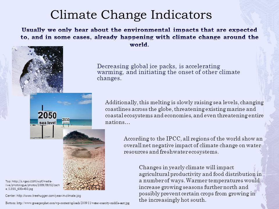 Decreasing global ice packs, is accelerating warming, and initiating the onset of other climate changes. Top: http://s.ngeo. com /wpf/media- live/phot