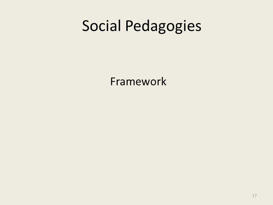 Social Pedagogies Framework 17