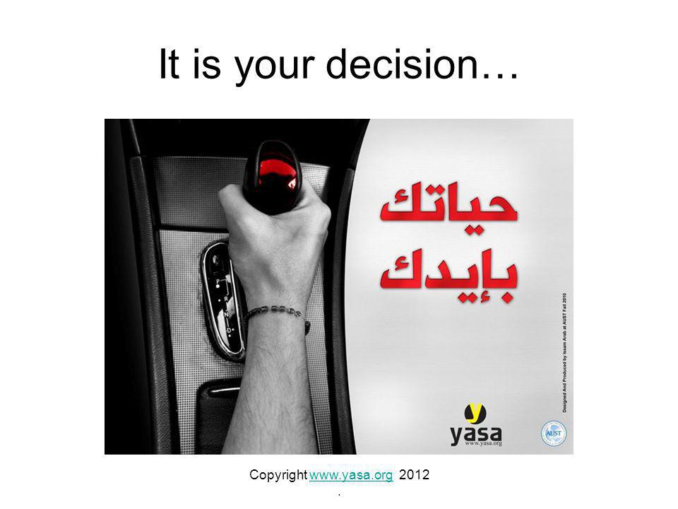 It is your decision… Copyright www.yasa.org 2012www.yasa.org.