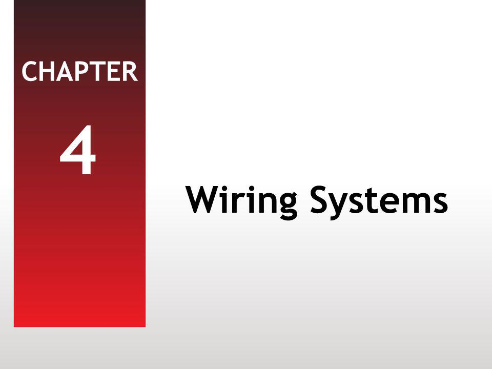 CHAPTER 4 Wiring Systems
