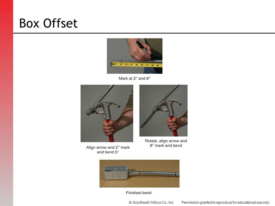 Permission granted to reproduce for educational use only.© Goodheart-Willcox Co., Inc. Box Offset
