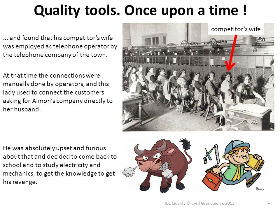 Quality tools.Once upon a time .