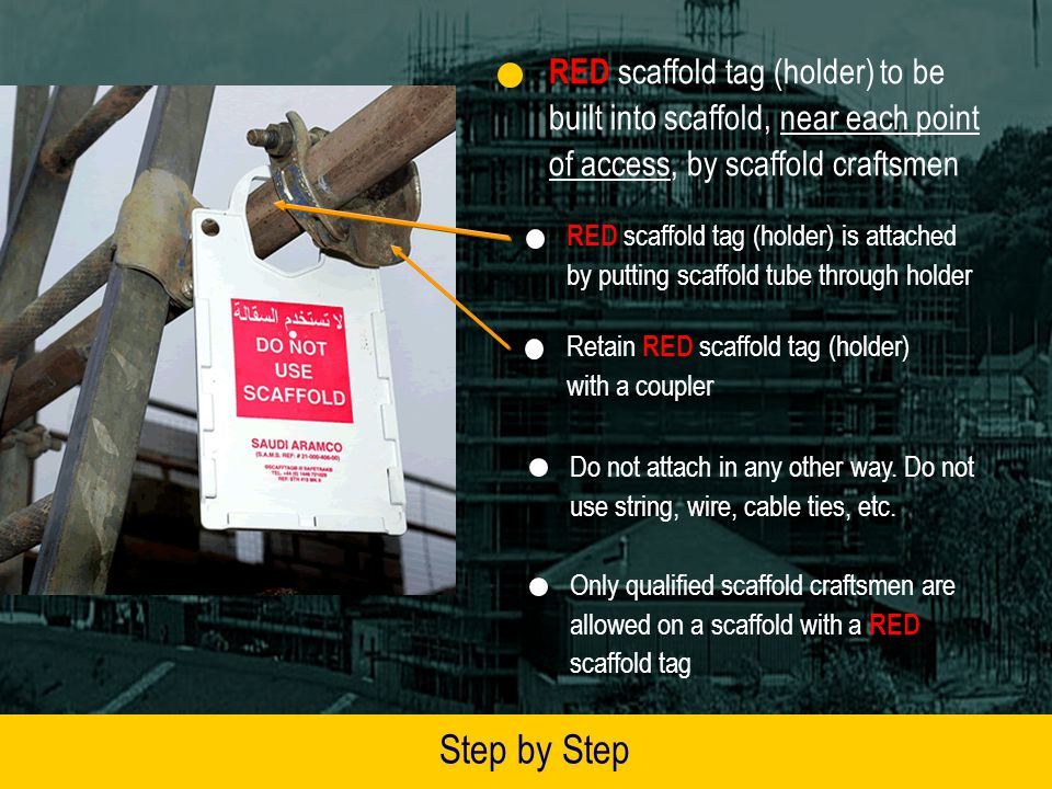 Step by Step Guide to Using Scaffold Tag Holders and Inserts 1 23