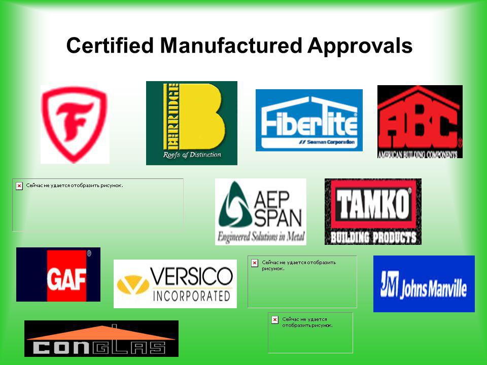 Certified Manufactured Approvals