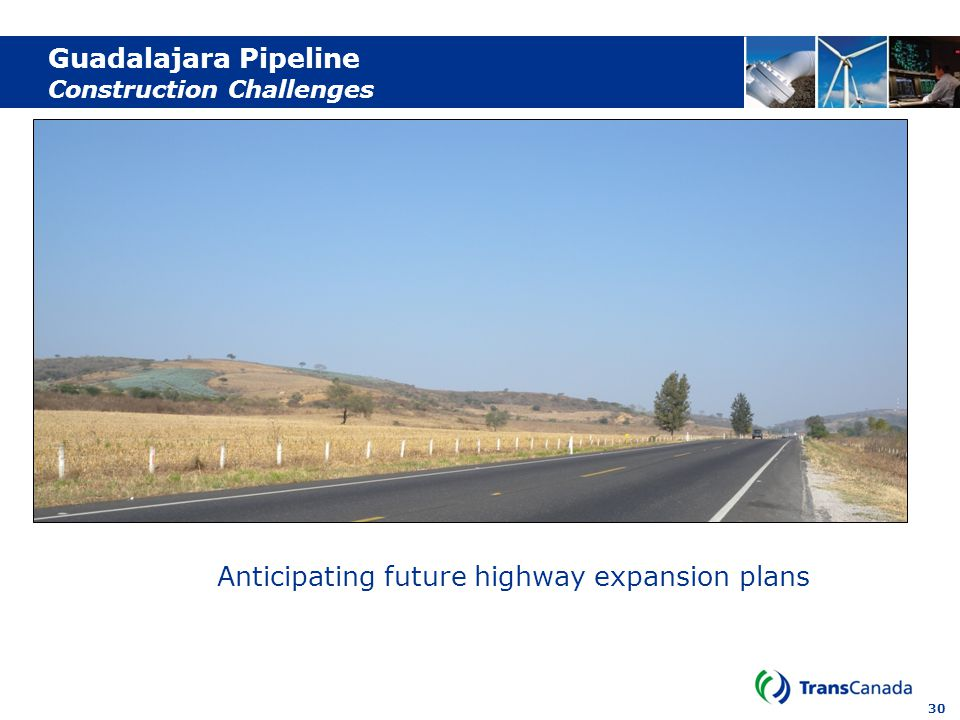 30 Guadalajara Pipeline Construction Challenges Anticipating future highway expansion plans