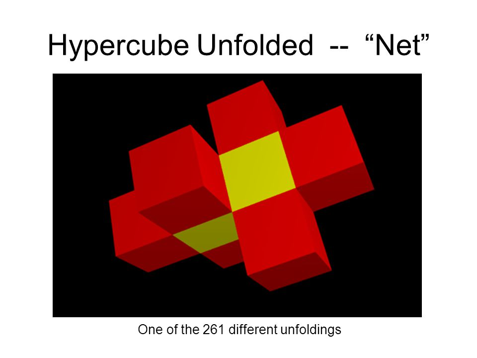 Hypercube Unfolded -- Net One of the 261 different unfoldings