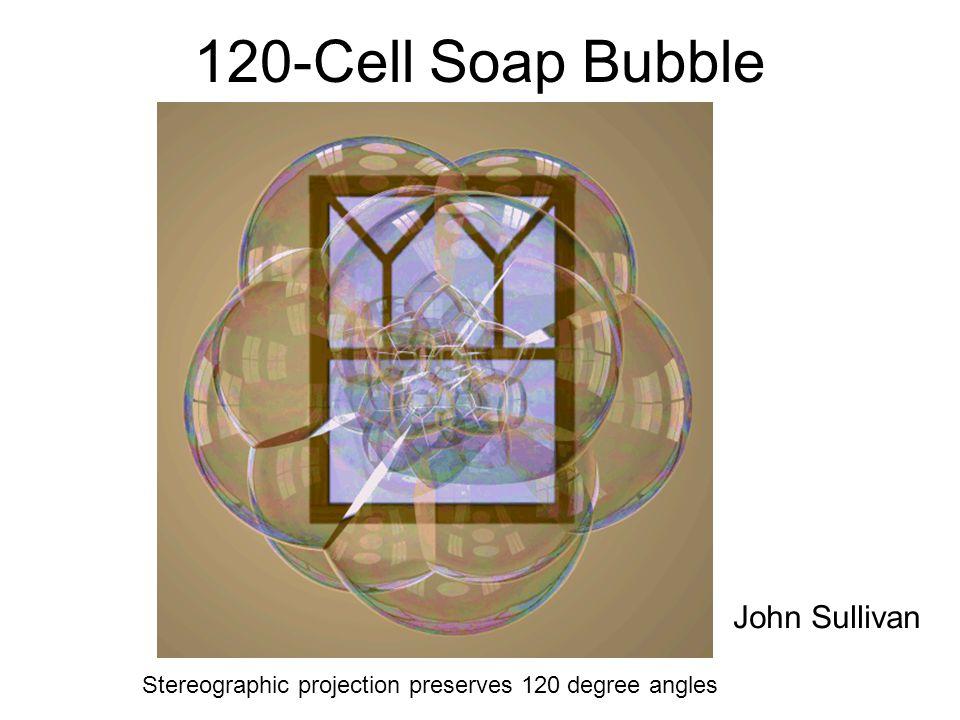 120-Cell Soap Bubble John Sullivan Stereographic projection preserves 120 degree angles