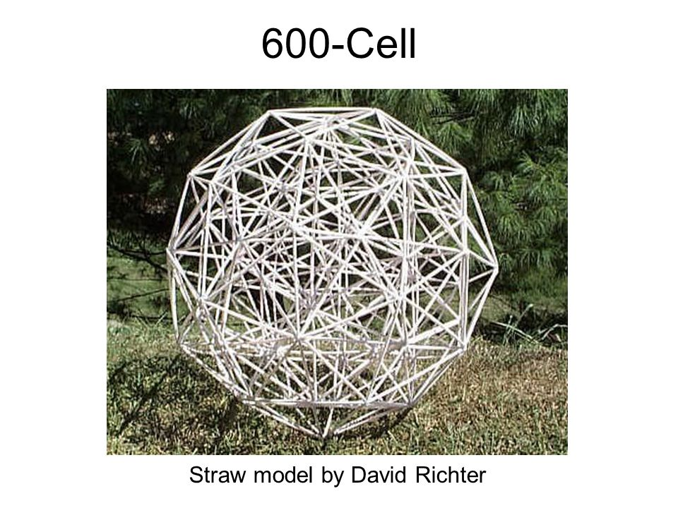 600-Cell Straw model by David Richter