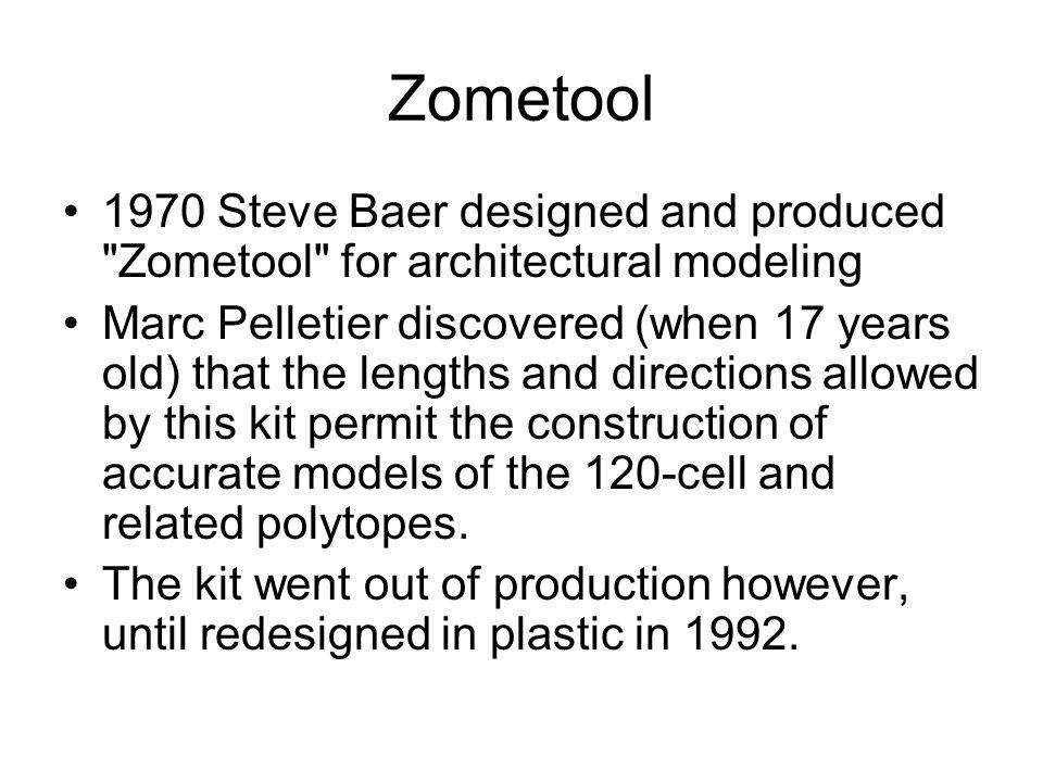 Zometool 1970 Steve Baer designed and produced